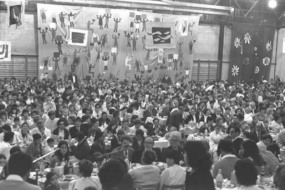 סדר פסח בקיבוץ נען 1971 באדיבות לשכת העיתונות הממשלתית
